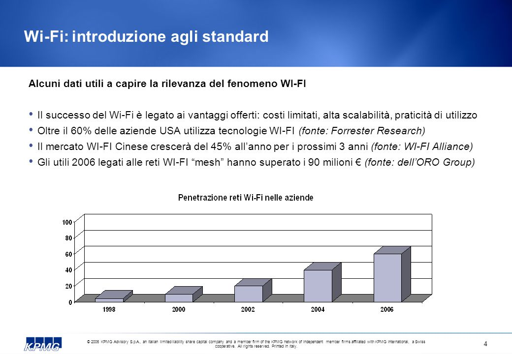 © 2006 KPMG Advisory S.p.A., an Italian limited liability share capital company and a member firm of the KPMG network of independent member firms affiliated with KPMG International, a Swiss cooperative.