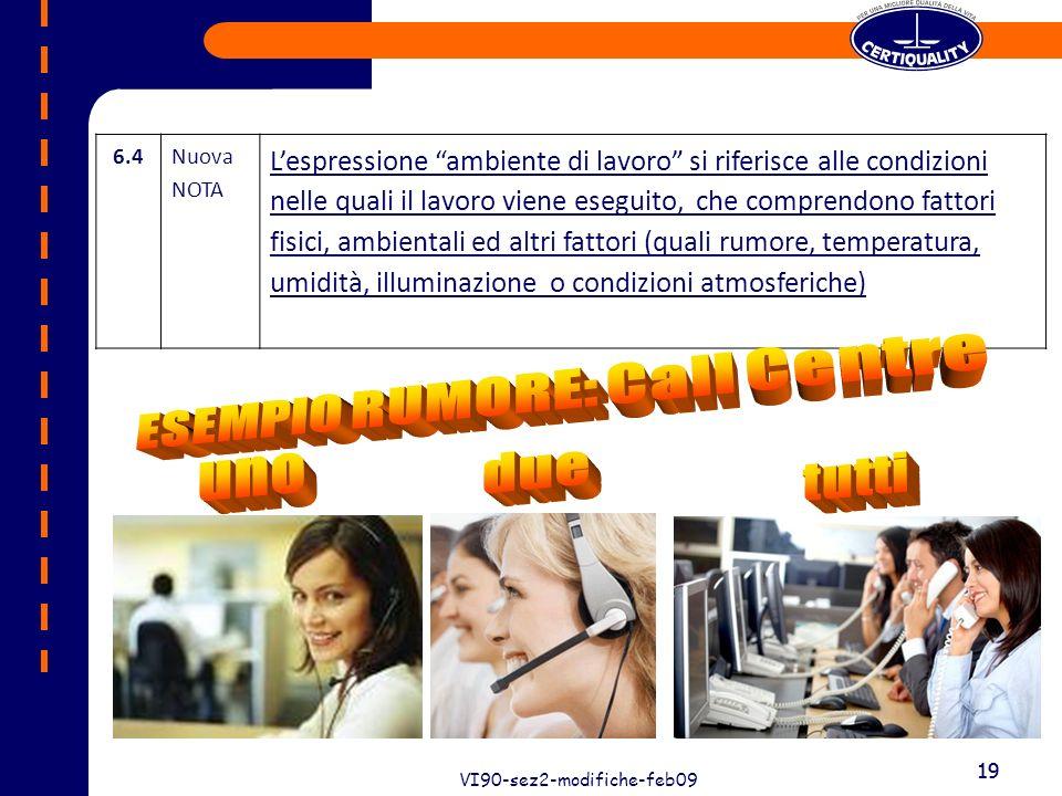 19 VI90-sez2-modifiche-feb09 19 6.4Nuova NOTA Lespressione ambiente di lavoro si riferisce alle condizioni nelle quali il lavoro viene eseguito, che c