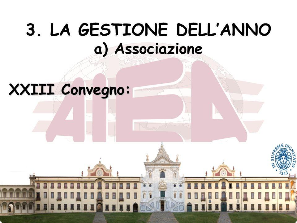27 3. LA GESTIONE DELLANNO a) Associazione XXIII Convegno: