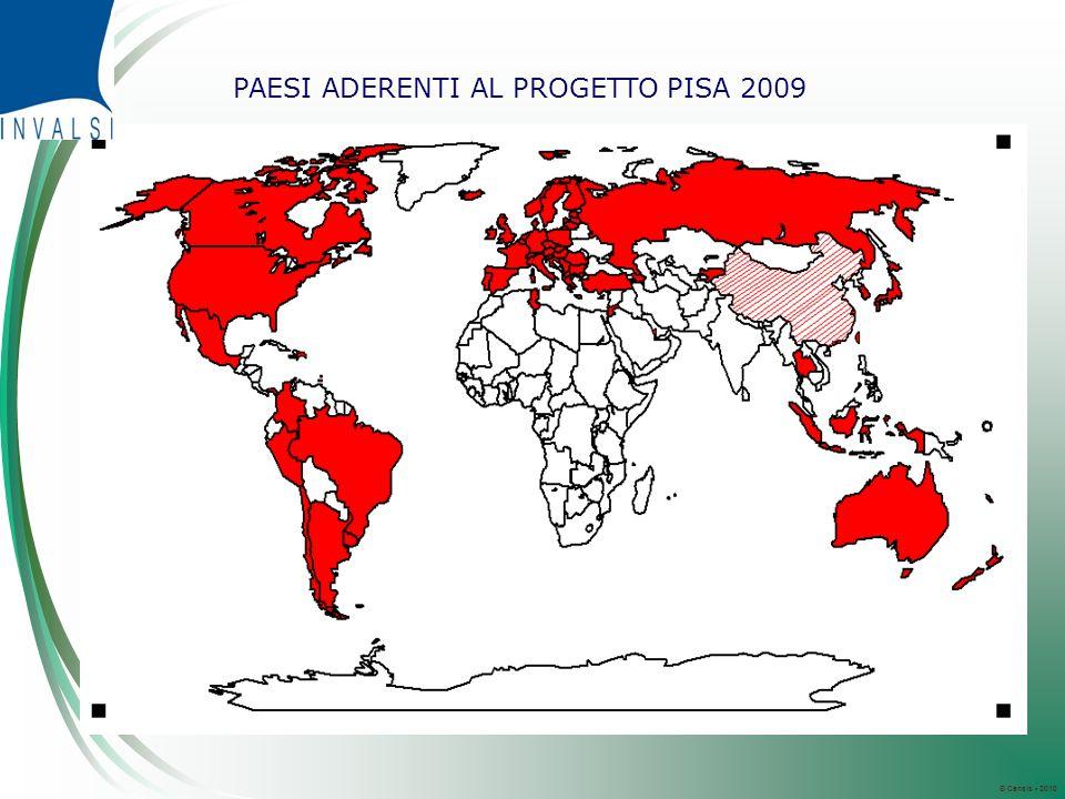 © Censis 2010 PAESI ADERENTI AL PROGETTO PISA 2009