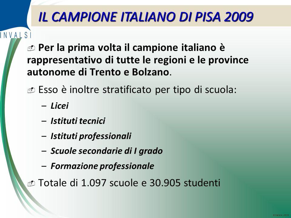 © Censis 2010 Per la prima volta il campione italiano è rappresentativo di tutte le regioni e le province autonome di Trento e Bolzano.