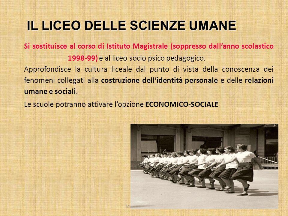 MARIO FRACCARO13 Si sostituisce al corso di Istituto Magistrale (soppresso dallanno scolastico 1998-99) e al liceo socio psico pedagogico. Approfondis