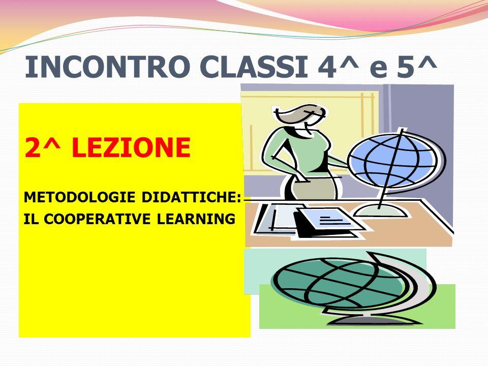 INCONTRO CLASSI 4^ e 5^ 2^ LEZIONE METODOLOGIE DIDATTICHE: IL COOPERATIVE LEARNING