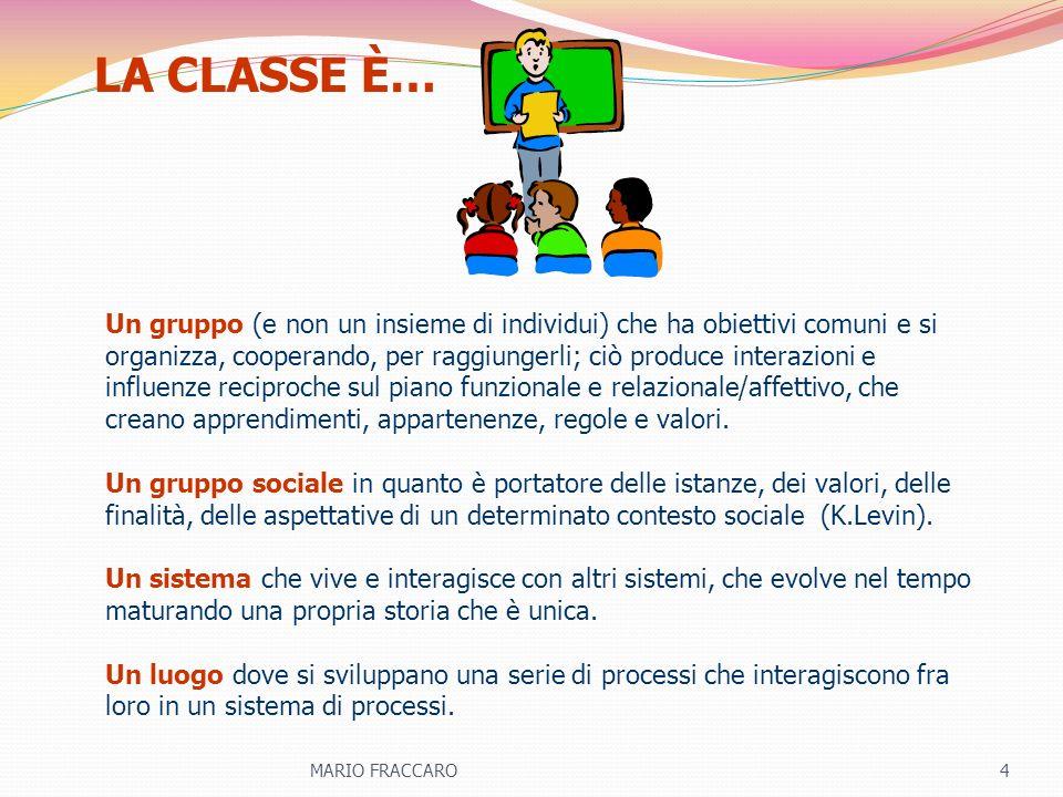 Un gruppo (e non un insieme di individui) che ha obiettivi comuni e si organizza, cooperando, per raggiungerli; ciò produce interazioni e influenze re
