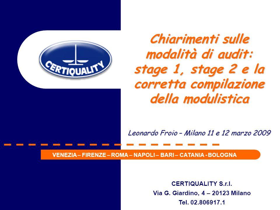 CERTIQUALITY S.r.l.Via G. Giardino, 4 – 20123 Milano Tel.