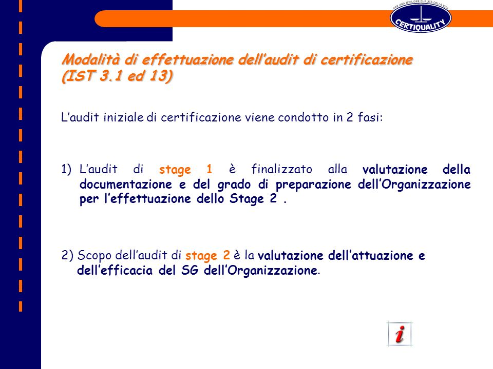Piano di audit – Mod PRG – stage 1 – es.