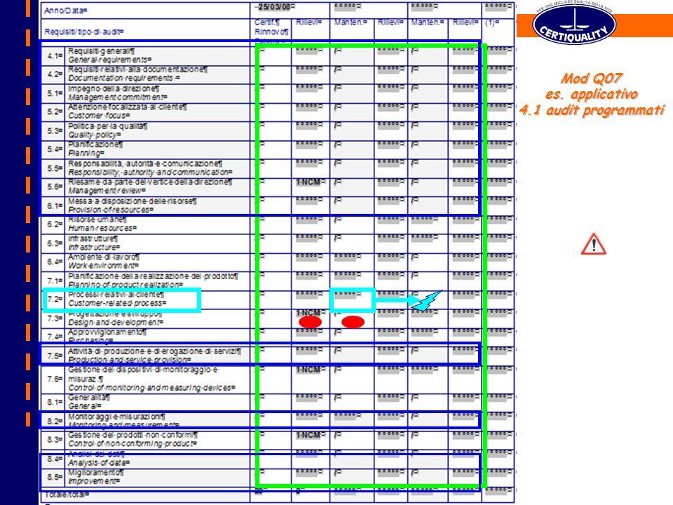 Mod Q07 es. applicativo 4.1 audit programmati