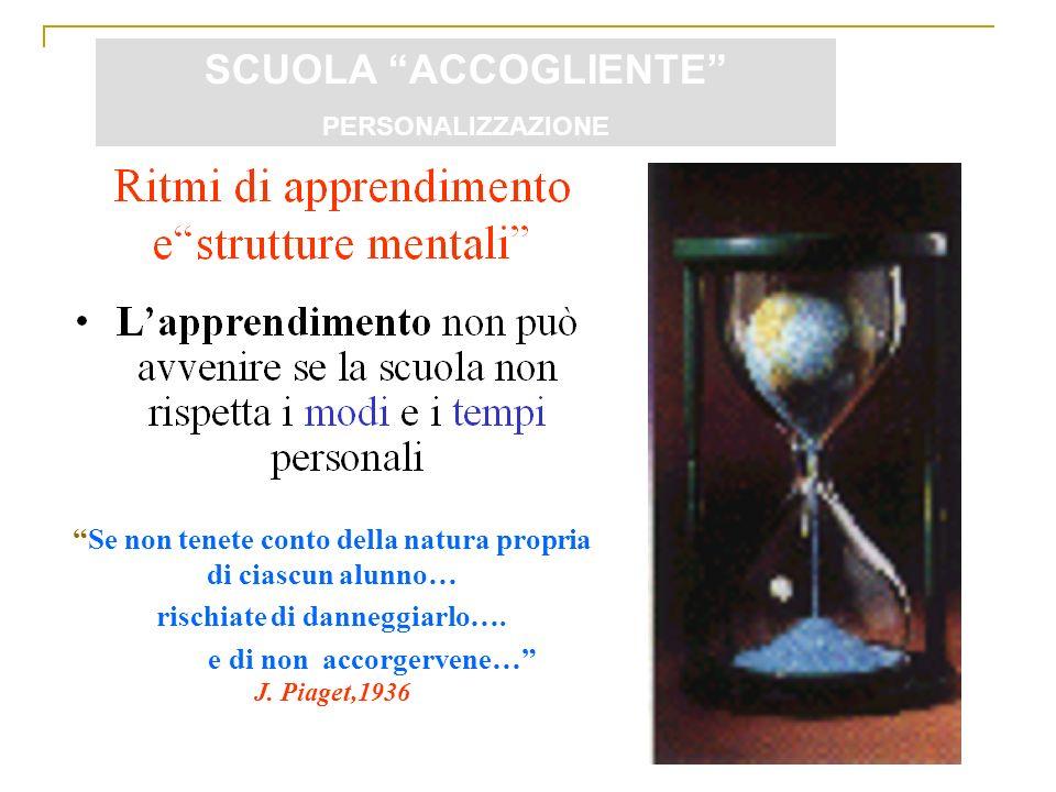 Franco Ferrante - 20/04/2012 Se non tenete conto della natura propria di ciascun alunno… rischiate di danneggiarlo…. e di non accorgervene… J. Piaget,