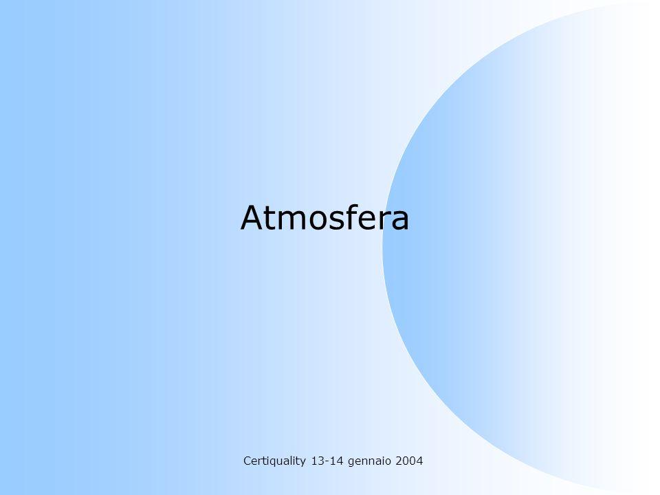 Certiquality 13-14 gennaio 2004 Atmosfera