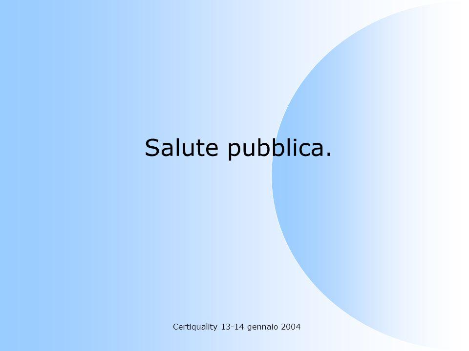 Certiquality 13-14 gennaio 2004 Salute pubblica.