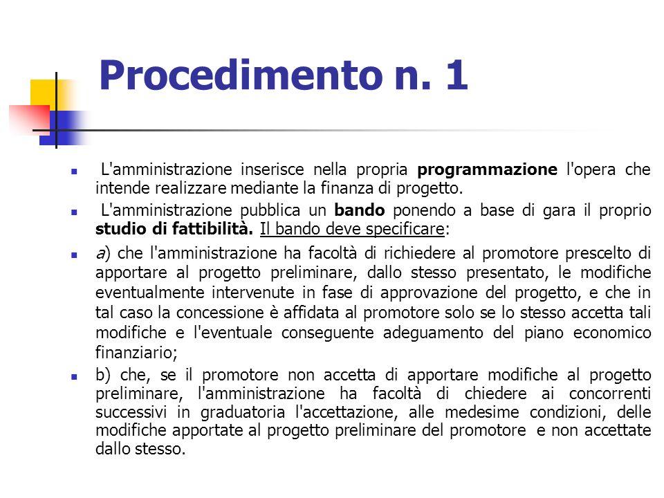 segue Individuata la proposta di pubblico interesse, lamministrazione può, in alternativa: a) Se il progetto preliminare necessita di modifiche e ricorrono le condizioni ex art.