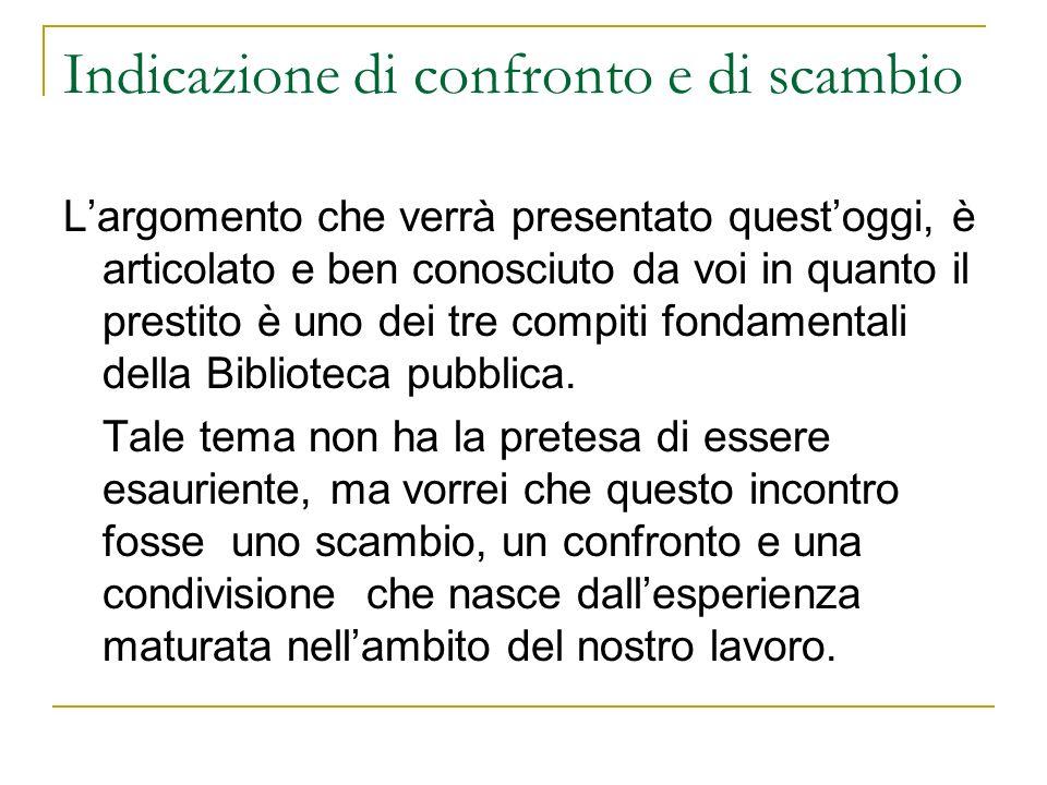 Prestito SBPV/2 Allinterno del sito della Biblioteca Bertoliana è presente un elenco delle biblioteche presenti in città: http://www.bibliotecabertoliana.it/cooperazione.