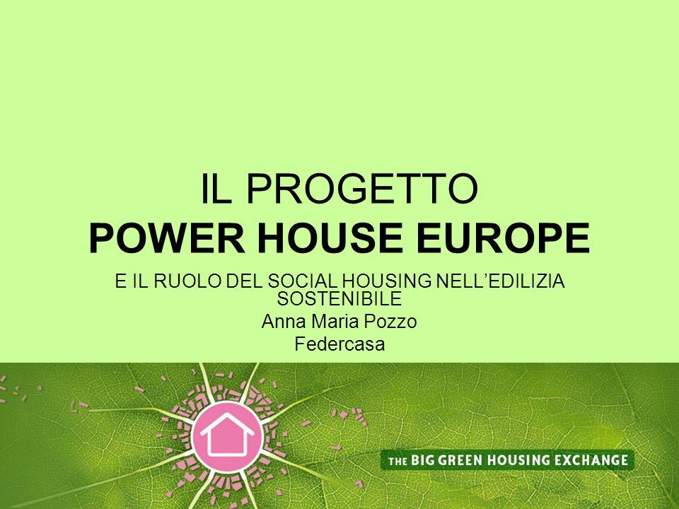 IL PROGETTO POWER HOUSE EUROPE E IL RUOLO DEL SOCIAL HOUSING NELLEDILIZIA SOSTENIBILE Anna Maria Pozzo Federcasa