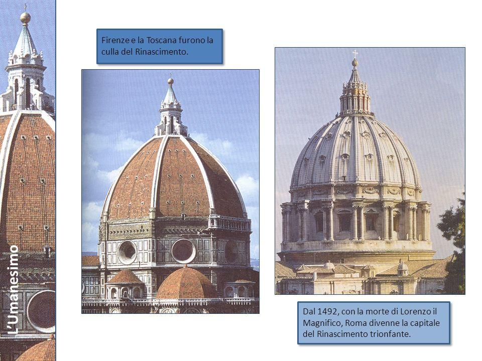 LUmanesimo La rinascita delle arti Larte italiana raggiunse livelli elevatissimi.