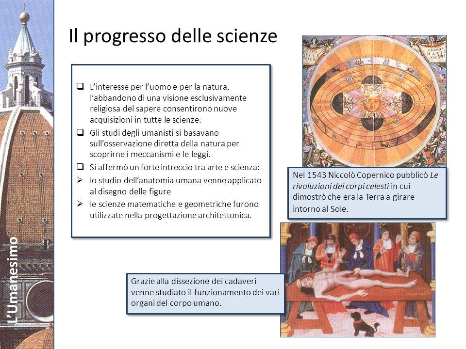 LUmanesimo Leonardo: un genio universale Genio irrequieto, incarnò la figura del perfetto umanista e la sua aspirazione a una conoscenza universale.