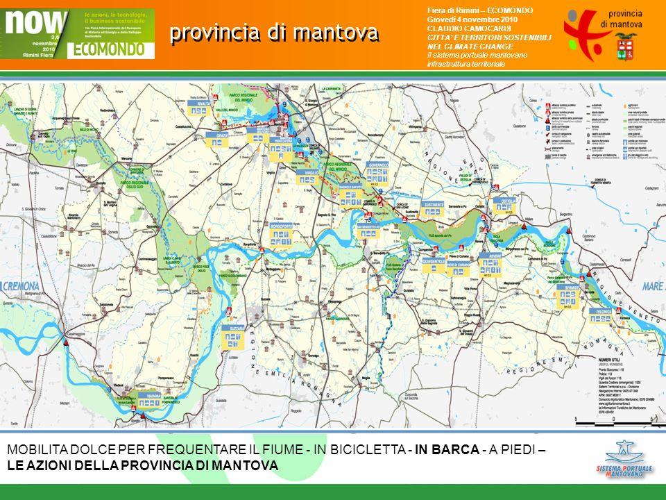 provincia di mantova Fiera di Rimini – ECOMONDO Giovedì 4 novembre 2010 CLAUDIO CAMOCARDI CITTA E TERRITORI SOSTENIBILI NEL CLIMATE CHANGE Il sistema