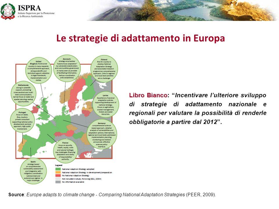 Le attività con lAgenzia Europea per lAmbiente NATIONAL REFERENCE CENTERS (NRCs) EIONET NATIONAL REFERENCE CENTERS (NRCs) nellambito della rete EIONET dellAgenzia Europea per lAmbiente per la tematica: IMPATTI DEI CAMBIAMENTI CLIMATICI, VULNERABILITA E ADATTAMENTO Dal 2007 1.