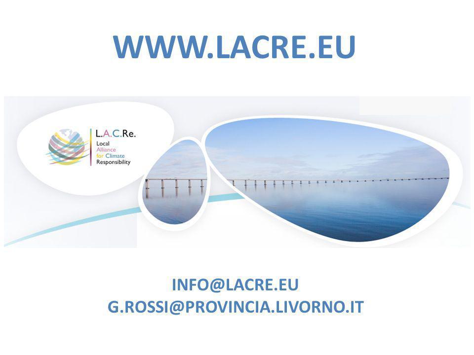 INFO@LACRE.EU G.ROSSI@PROVINCIA.LIVORNO.IT WWW.LACRE.EU