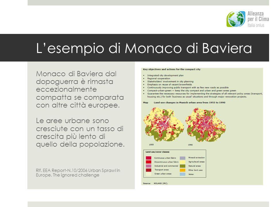 Lesempio di Monaco di Baviera Monaco di Baviera dal dopoguerra è rimasta eccezionalmente compatta se comparata con altre città europee. Le aree urbane