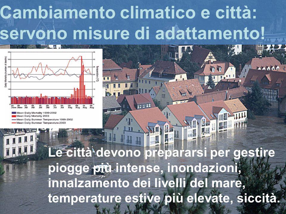 Cambiamento climatico e città: servono misure di adattamento.