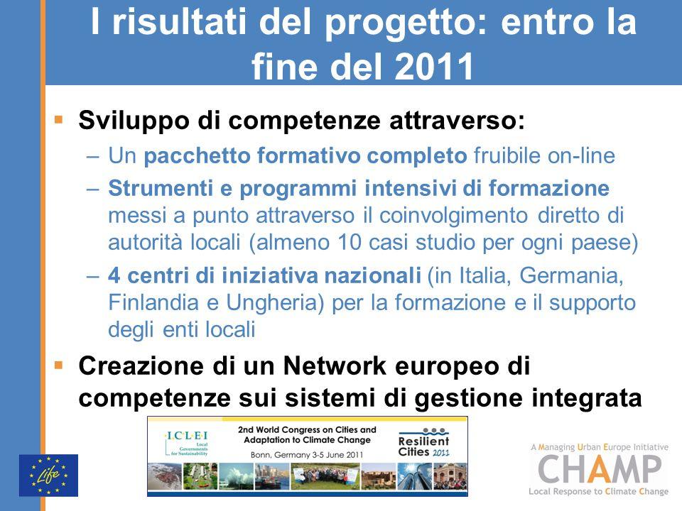 Sviluppo di competenze attraverso: –Un pacchetto formativo completo fruibile on-line –Strumenti e programmi intensivi di formazione messi a punto attr
