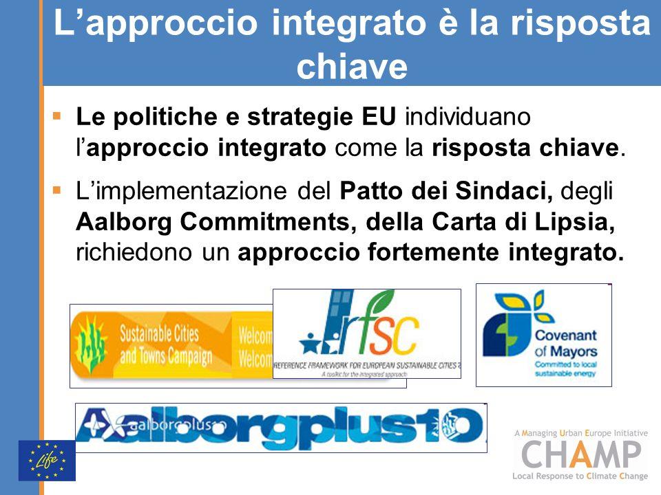 Lapproccio integrato è la risposta chiave Le politiche e strategie EU individuano lapproccio integrato come la risposta chiave. Limplementazione del P