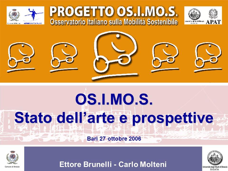 Ettore Brunelli - Carlo Molteni OS.I.MO.S. Stato dellarte e prospettive OS.I.MO.S. Stato dellarte e prospettive Bari 27 ottobre 2006 Ettore Brunelli -