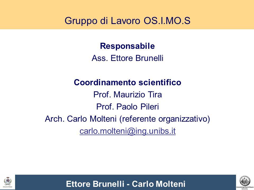 Gruppo di Lavoro OS.I.MO.S Responsabile Ass. Ettore Brunelli Coordinamento scientifico Prof.