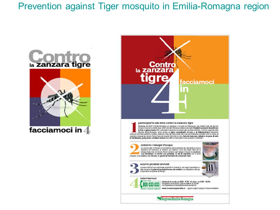 Prevention against Tiger mosquito in Emilia-Romagna region