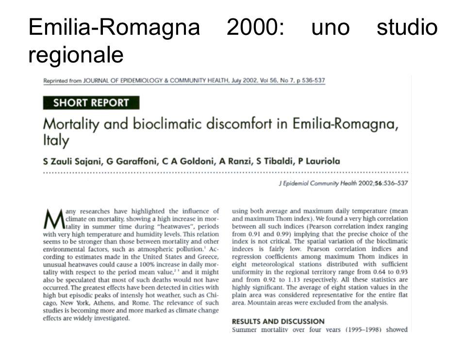 Emilia-Romagna 2000: uno studio regionale
