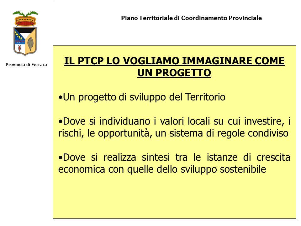 Piano Territoriale di Coordinamento Provinciale IL PTCP LO VOGLIAMO IMMAGINARE COME UN PROGETTO Un progetto di sviluppo del Territorio Dove si individ
