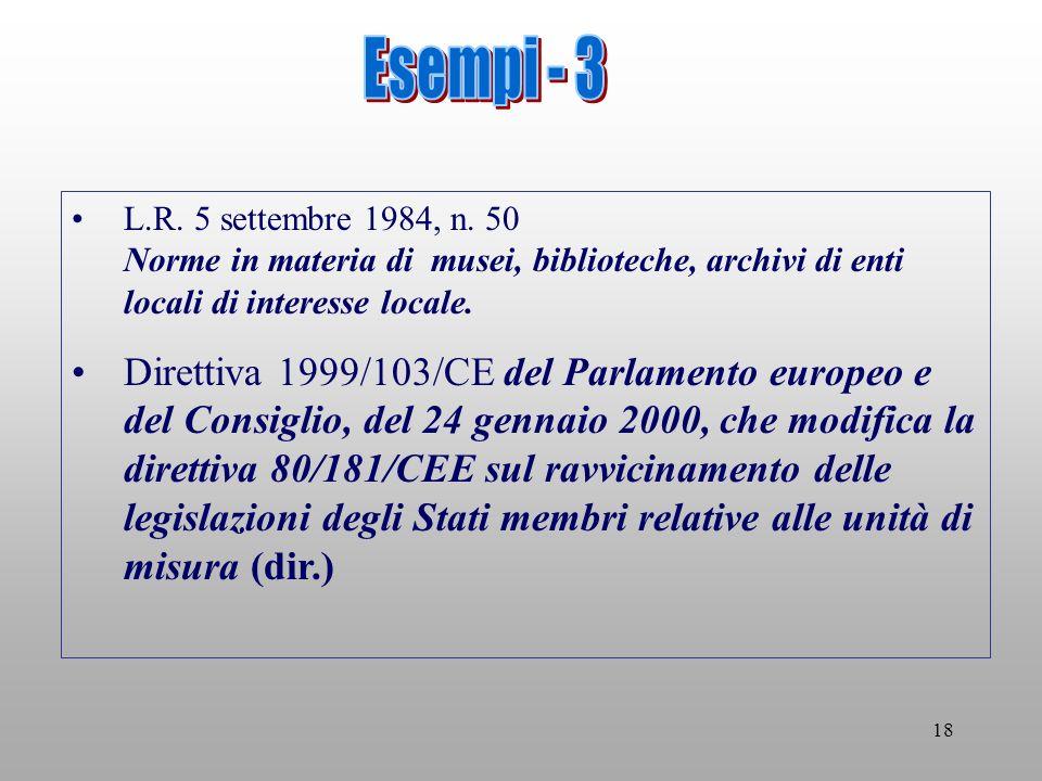 18 L.R. 5 settembre 1984, n.