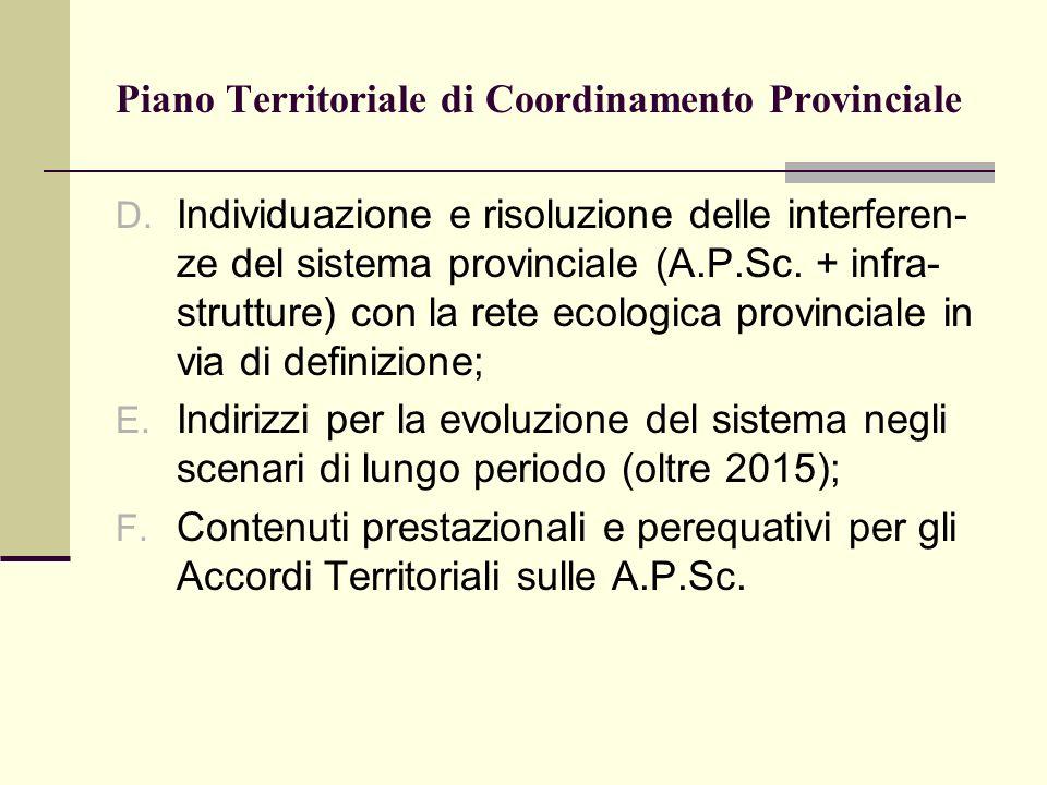 Piano Territoriale di Coordinamento Provinciale D.