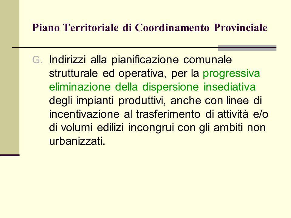 Piano Territoriale di Coordinamento Provinciale G.