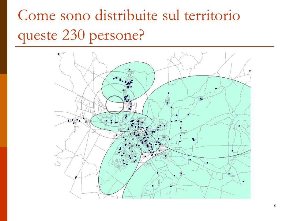 6 Come sono distribuite sul territorio queste 230 persone?