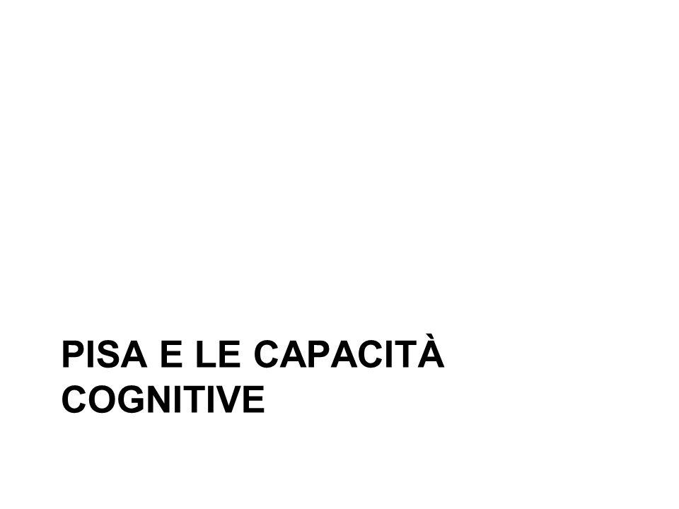 PISA E LE CAPACITÀ COGNITIVE