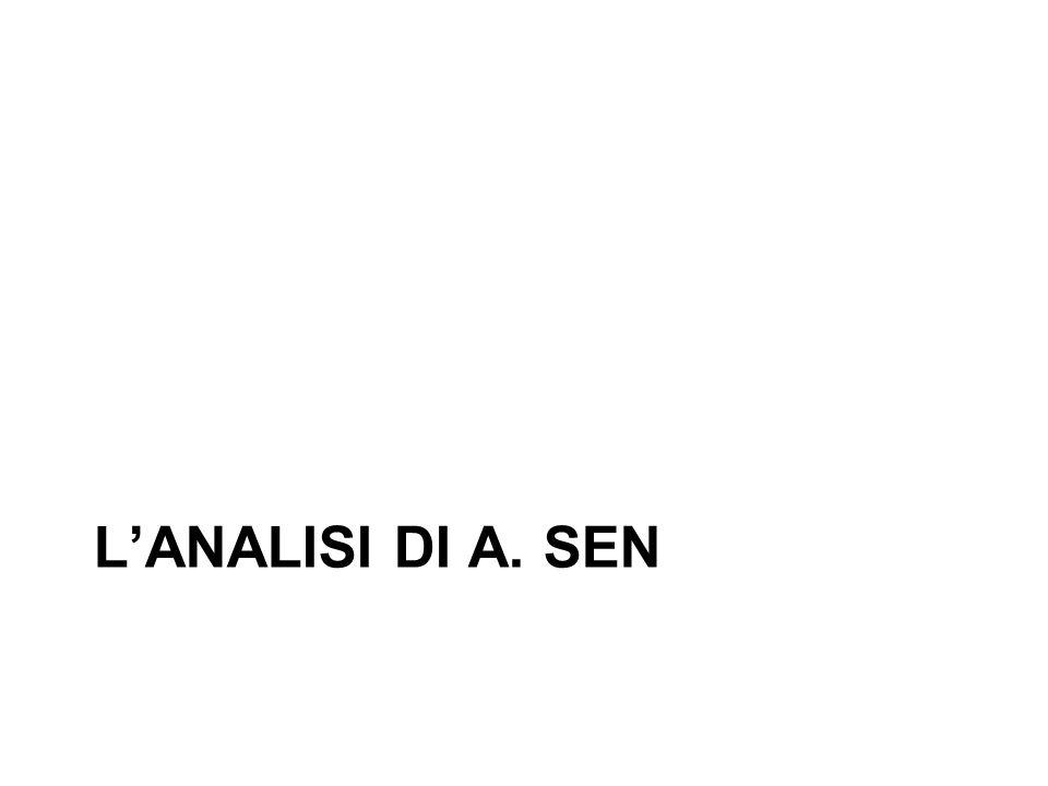 LANALISI DI A. SEN