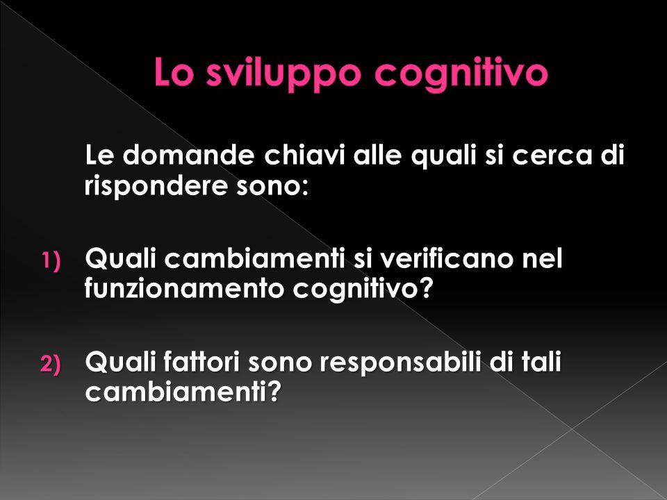 Le domande chiavi alle quali si cerca di rispondere sono: 1) Quali cambiamenti si verificano nel funzionamento cognitivo.