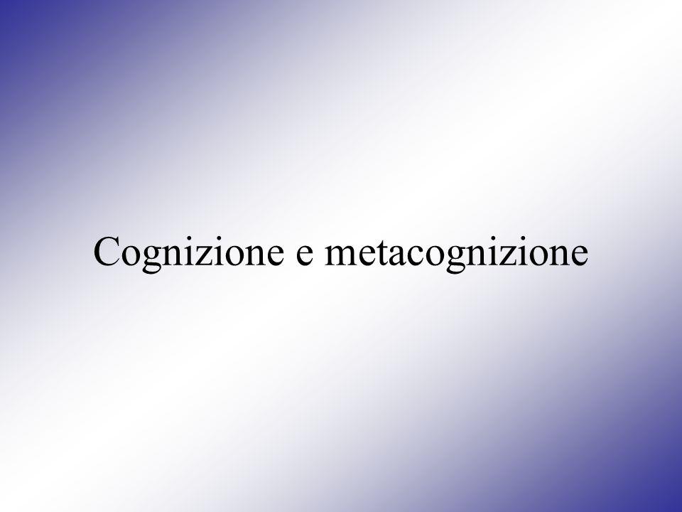 Approccio metacognitivo Lapproccio metodologico incentrato sulla cognizione e metacognizione si pone lobiettivo di rendere il soggetto consapevole: dei modi con il quale si esplicano i processi cognitivi, dei modi con il quale procedono i propri specifici processi cognitivi, per arrivare allacquisizione dei modi con il quale questi possono essere regolati in funzione di un migliore benessere psico-sociale.