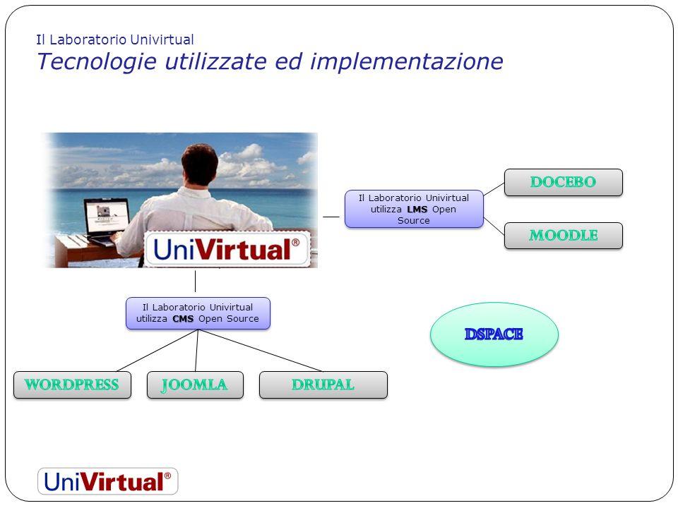 CMS Il Laboratorio Univirtual utilizza CMS Open Source LMS Il Laboratorio Univirtual utilizza LMS Open Source Il Laboratorio Univirtual Tecnologie uti