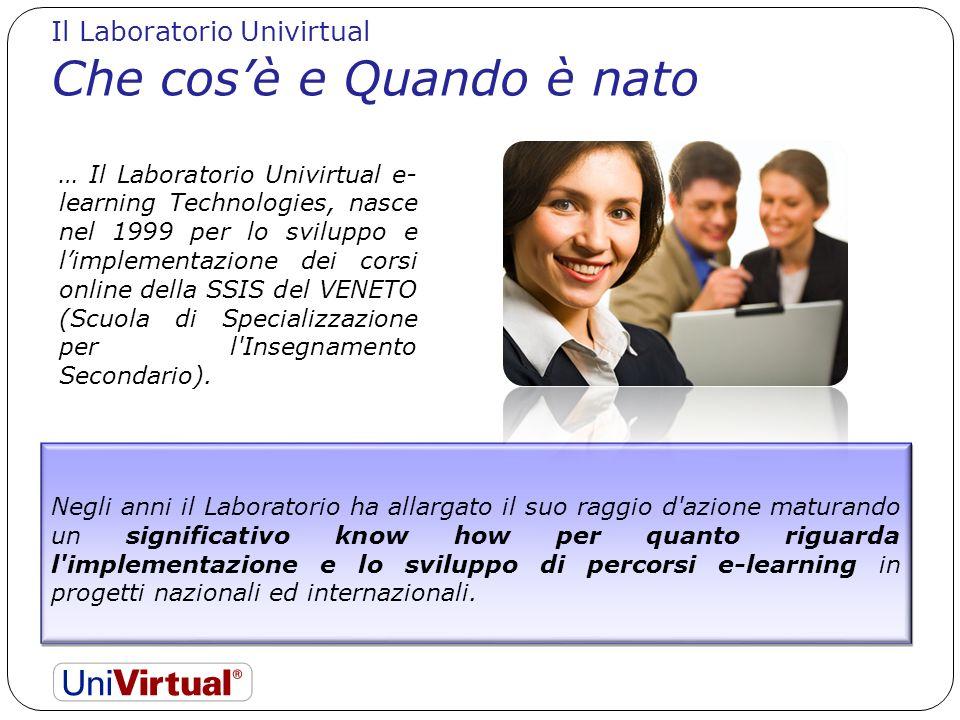 Il Laboratorio Univirtual Che cosè e Quando è nato Negli anni il Laboratorio ha allargato il suo raggio d'azione maturando un significativo know how p