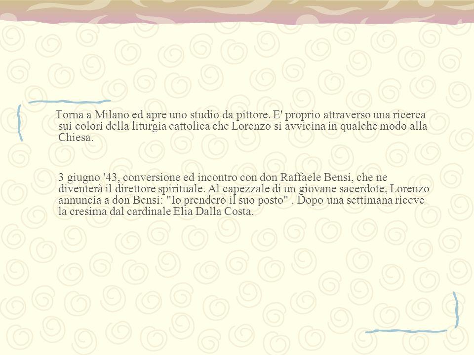 Entra al seminario di Cestello in Oltrarno il 9 novembre 43 dove si sta zitti in latino .
