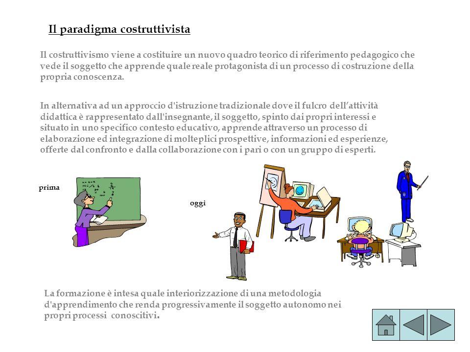 In alternativa ad un approccio d'istruzione tradizionale dove il fulcro dellattività didattica è rappresentato dall'insegnante, il soggetto, spinto da