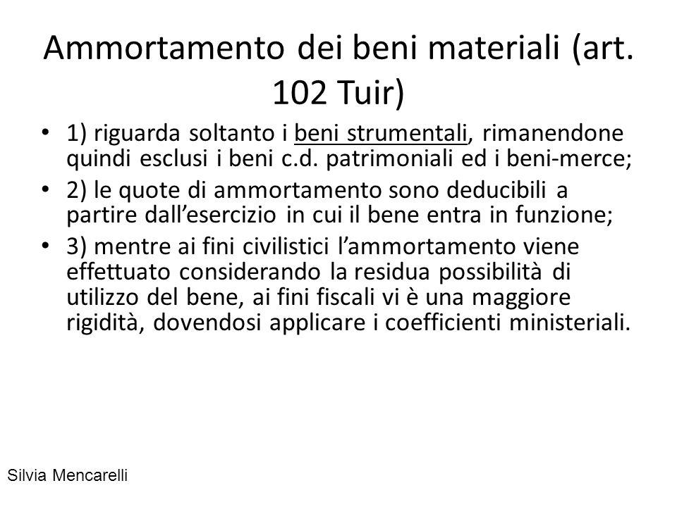 Ammortamento ordinario: è quello che risulta applicando al costo del bene i coefficienti previsti dal decreto ministeriale 31 dicembre 1988, stabiliti in base al tipo di bene ed al settore merceologico.