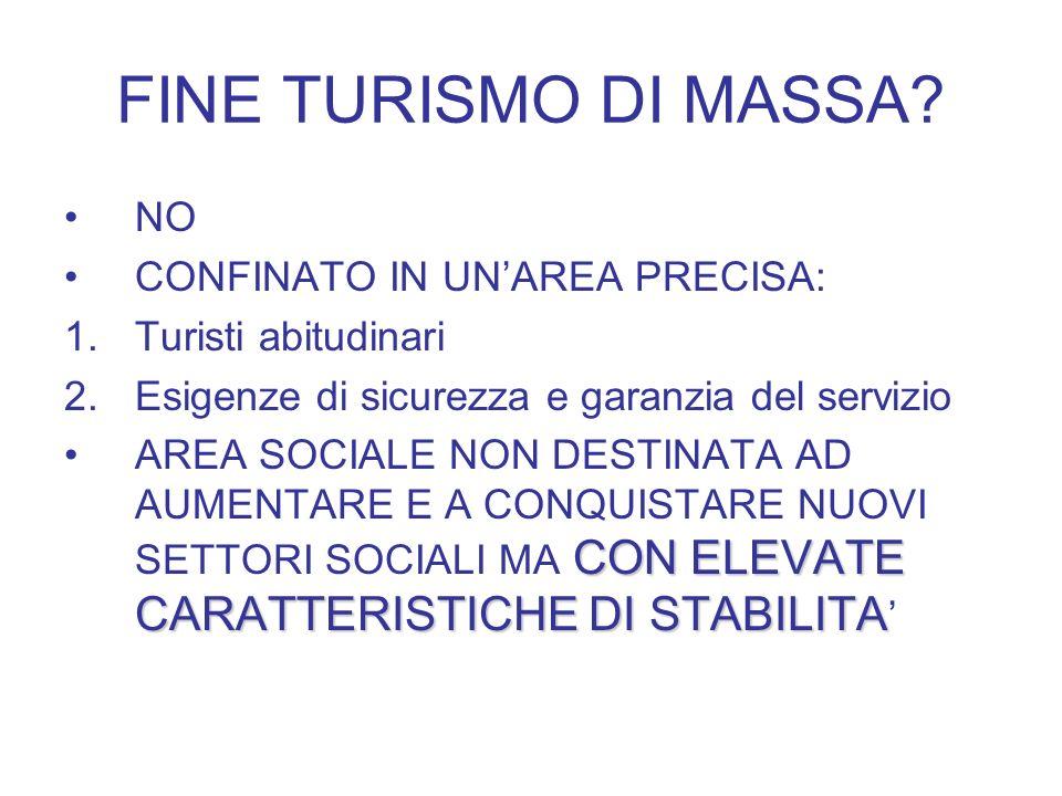 FINE TURISMO DI MASSA.