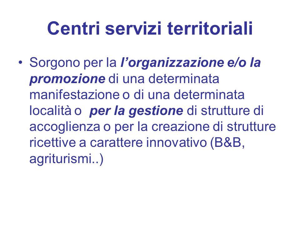 Centri servizi territoriali Sorgono per la lorganizzazione e/o la promozione di una determinata manifestazione o di una determinata località o per la