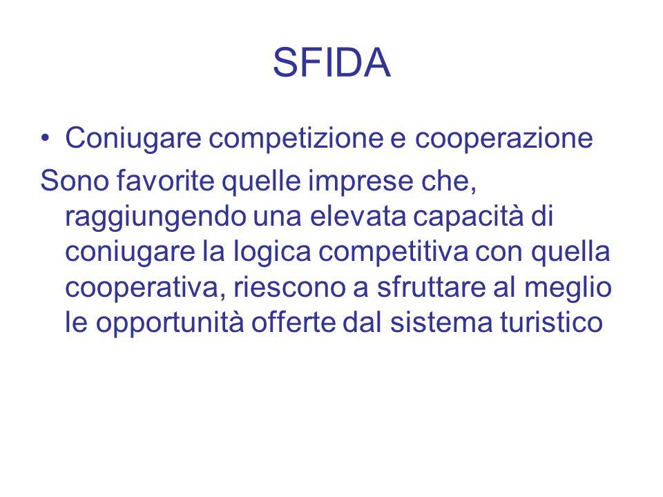 SFIDA Coniugare competizione e cooperazione Sono favorite quelle imprese che, raggiungendo una elevata capacità di coniugare la logica competitiva con