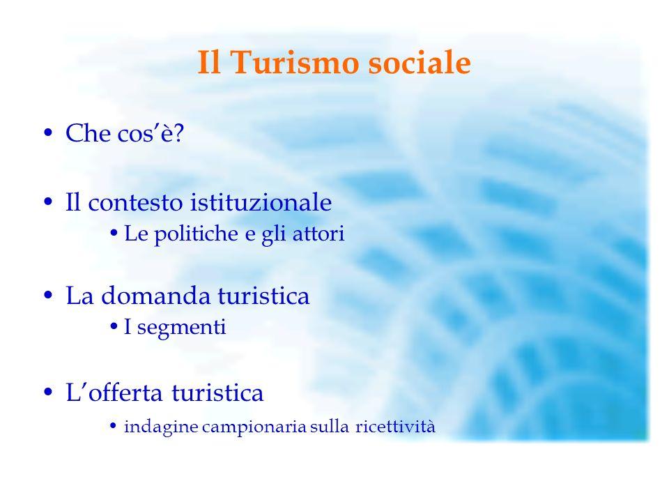 Il Turismo sociale Che cosè.