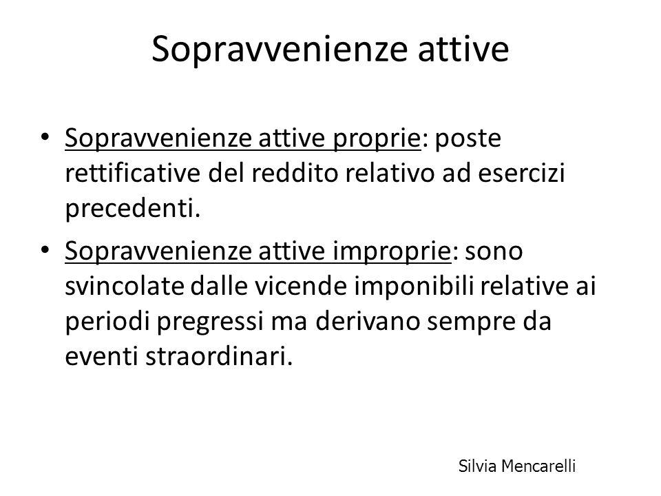 Sopravvenienze attive Sopravvenienze attive proprie: poste rettificative del reddito relativo ad esercizi precedenti. Sopravvenienze attive improprie: