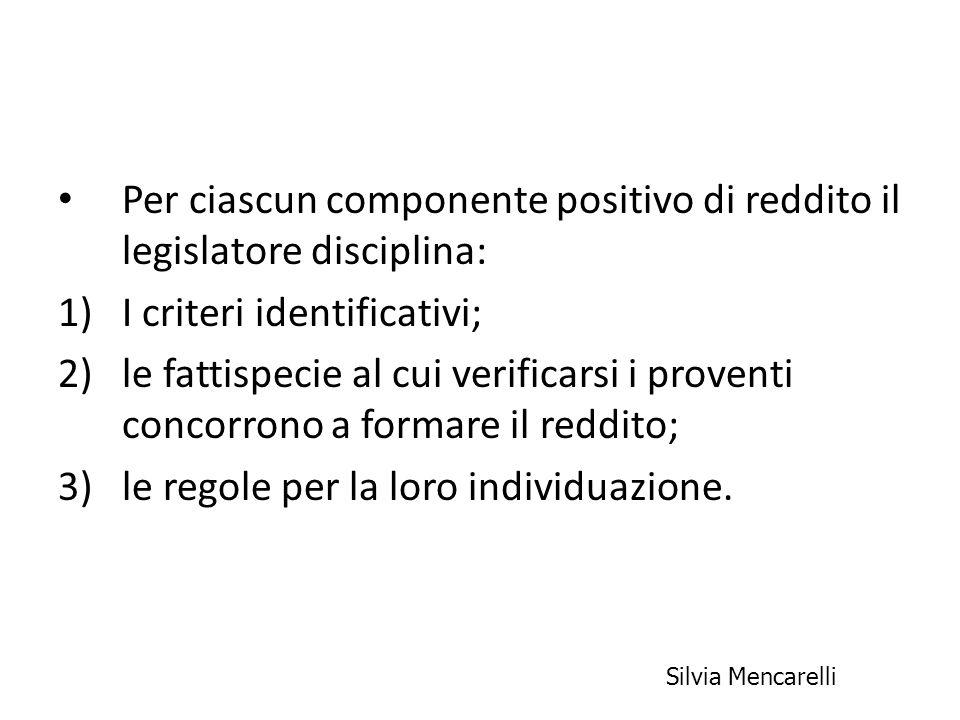 Componenti positivi Ricavi (art.85) Plusvalenze patrimoniali (art.
